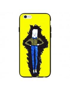 Coque Julie Femme Fashion Mode Jaune pour iPhone 6 - Cécile