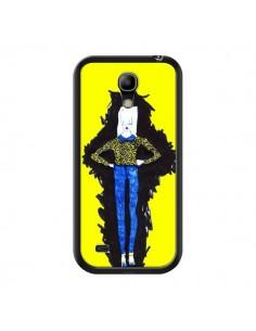 Coque Julie Femme Fashion Mode Jaune pour Samsung Galaxy S4 Mini - Cécile