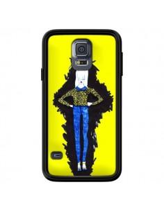 Coque Julie Femme Fashion Mode Jaune pour Samsung Galaxy S5 - Cécile