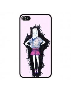 Coque Valentine Femme Fashion Mode Rose Clair pour iPhone 4 et 4S - Cécile