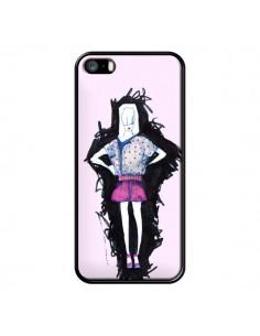 Coque Valentine Femme Fashion Mode Rose Clair pour iPhone 5 et 5S - Cécile