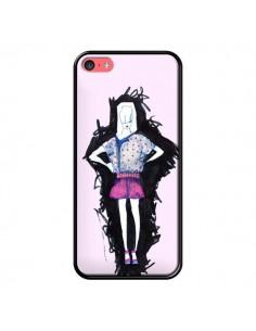 Coque Valentine Femme Fashion Mode Rose Clair pour iPhone 5C - Cécile