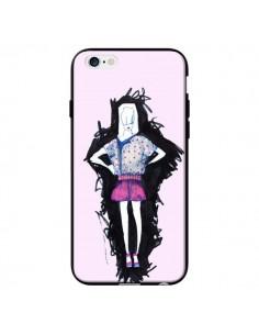 Coque Valentine Femme Fashion Mode Rose Clair pour iPhone 6 - Cécile
