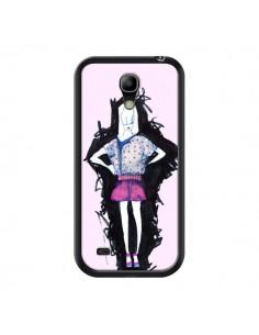 Coque Valentine Femme Fashion Mode Rose Clair pour Samsung Galaxy S4 Mini - Cécile