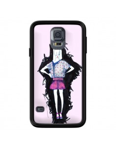Coque Valentine Femme Fashion Mode Rose Clair pour Samsung Galaxy S5 - Cécile