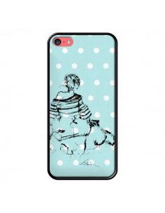 Coque Croquis Pois Femme Fashion Mode pour iPhone 5C - Cécile