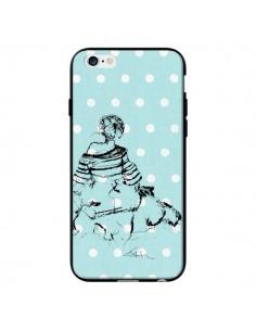 Coque Croquis Pois Femme Fashion Mode pour iPhone 6 - Cécile
