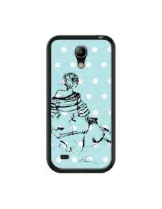 Coque Croquis Pois Femme Fashion Mode pour Samsung Galaxy S4 Mini - Cécile