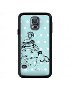 Coque Croquis Pois Femme Fashion Mode pour Samsung Galaxy S5 - Cécile