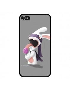 Coque Lapin Crétin Sucette pour iPhone 4 et 4S - Bertrand Carriere