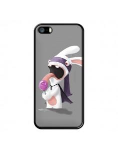 Coque Lapin Crétin Sucette pour iPhone 5 et 5S - Bertrand Carriere