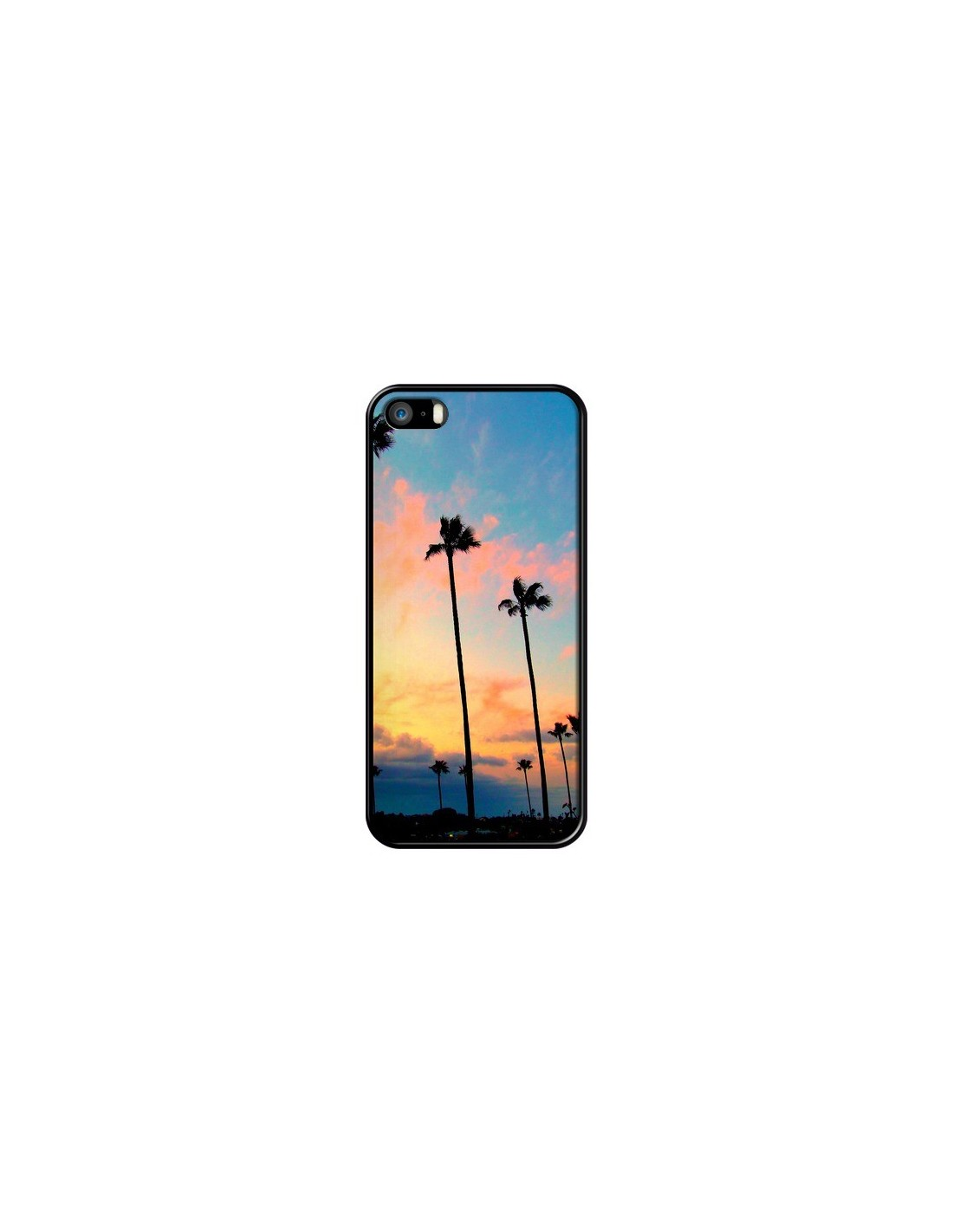 Coque iPhone 5/5S et SE California Californie USA Palmiers - Tara Yarte