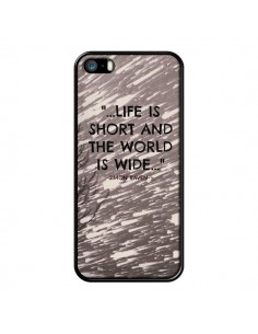 Coque Life is short Foret pour iPhone 5 et 5S - Tara Yarte