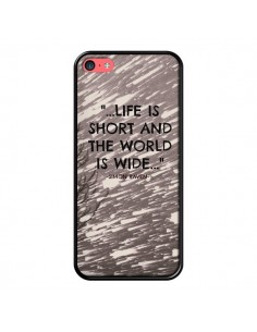 Coque Life is short Foret pour iPhone 5C - Tara Yarte