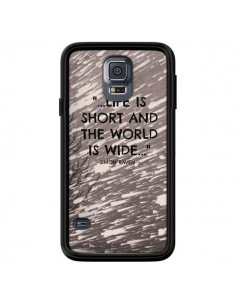 Coque Life is short Foret pour Samsung Galaxy S5 - Tara Yarte