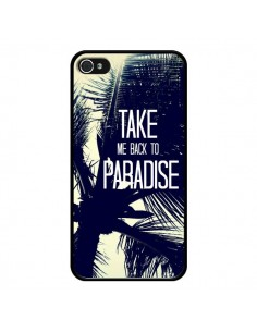 Coque Take me back to paradise USA Palmiers pour iPhone 4 et 4S - Tara Yarte