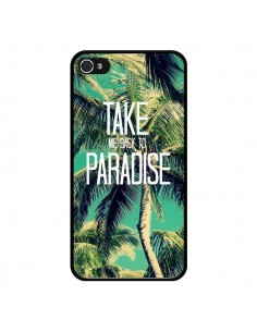 Coque Take me back to paradise USA Palmiers Palmtree pour iPhone 4 et 4S - Tara Yarte