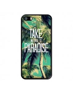 Coque Take me back to paradise USA Palmiers Palmtree pour iPhone 5 et 5S - Tara Yarte