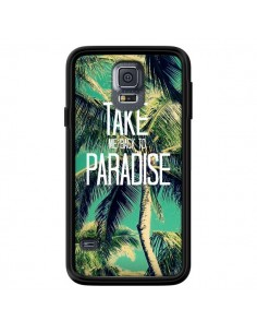 Coque Take me back to paradise USA Palmiers Palmtree pour Samsung Galaxy S5 - Tara Yarte