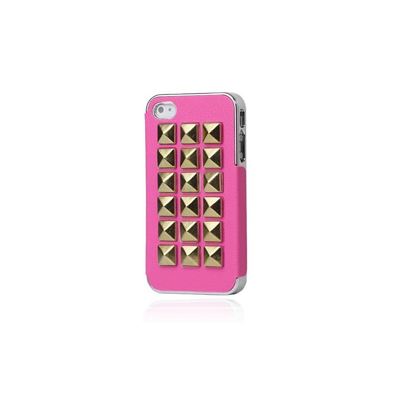 Coque Rock'n'Roll Cuir Cloutée pour iPhone 4/4S