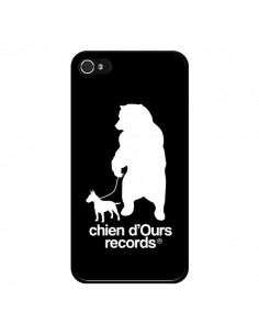 Coque Chien d'Ours Records Musique pour iPhone 4 et 4S - Bertrand Carriere