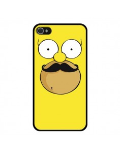 Coque Homer Movember Moustache Simpsons pour iPhone 4 et 4S - Bertrand Carriere