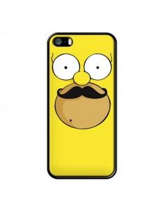 Coque Homer Movember Moustache Simpsons pour iPhone 5 et 5S - Bertrand Carriere
