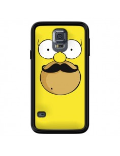 Coque Homer Movember Moustache Simpsons pour Samsung Galaxy S5 - Bertrand Carriere