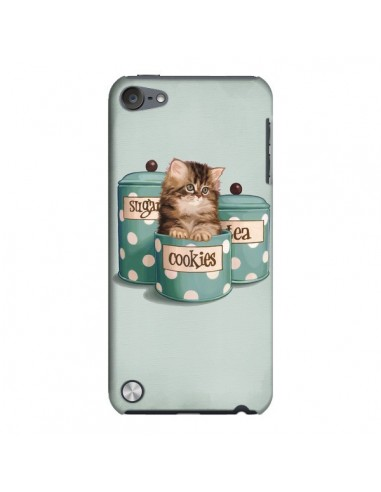 Coque Chaton Chat Kitten Boite Cookies Pois pour iPod Touch 5 - Maryline Cazenave