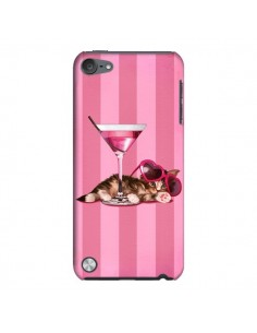 Coque Chaton Chat Kitten Cocktail Lunettes Coeur pour iPod Touch 5 - Maryline Cazenave