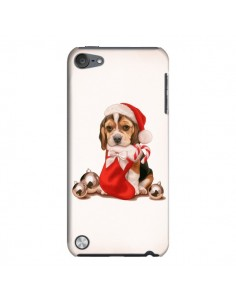 Coque Chien Dog Pere Noel Christmas pour iPod Touch 5 - Maryline Cazenave