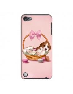 Coque Chien Dog Panier Noeud Papillon Macarons pour iPod Touch 5 - Maryline Cazenave