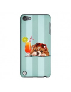Coque Chien Dog Cocktail Lunettes Coeur pour iPod Touch 5 - Maryline Cazenave