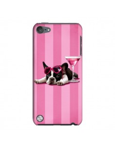 Coque Chien Dog Cocktail Lunettes Coeur Rose pour iPod Touch 5 - Maryline Cazenave
