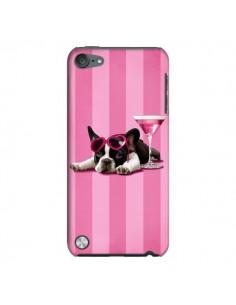 Coque Chien Dog Cocktail Lunettes Coeur Rose pour iPod Touch 5 - Maryline Cazenave