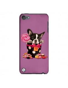 Coque Chien Dog Boite Noeud Papillon Pois Bonbon pour iPod Touch 5 - Maryline Cazenave