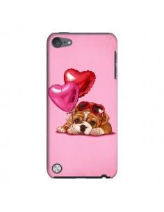 Coque Chien Dog Lunettes Coeur Ballon pour iPod Touch 5 - Maryline Cazenave