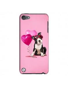 Coque Chien Dog Ballon Lunettes Coeur Rose pour iPod Touch 5 - Maryline Cazenave