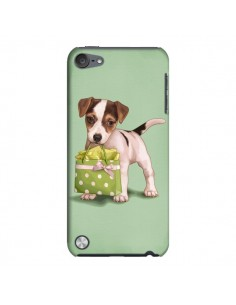 Coque Chien Dog Shopping Sac Pois Vert pour iPod Touch 5 - Maryline Cazenave