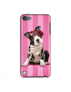 Coque Chien Dog Fashion Collier Perles Lunettes Coeur pour iPod Touch 5 - Maryline Cazenave