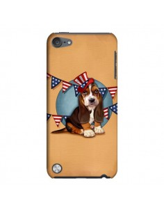 Coque Chien Dog USA Americain pour iPod Touch 5 - Maryline Cazenave