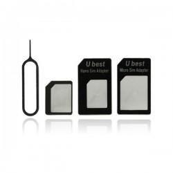 Adaptateur Carte Sim 4 en 1-Nano Sim-Micro Sim-Sim