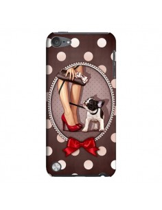 Coque Lady Jambes Chien Dog Pois Noeud papillon pour iPod Touch 5 - Maryline Cazenave