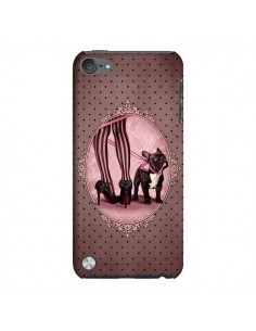 Coque Lady Jambes Chien Dog Rose Pois Noir pour iPod Touch 5 - Maryline Cazenave