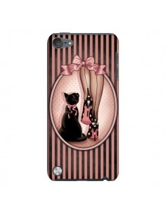 Coque Lady Chat Noeud Papillon Pois Chaussures pour iPod Touch 5 - Maryline Cazenave