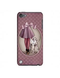 Coque Lady Chien Dog Dalmatien Robe Pois pour iPod Touch 5 - Maryline Cazenave