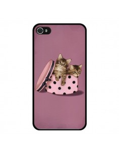 Coque Chaton Chat Kitten Boite Pois pour iPhone 4 et 4S - Maryline Cazenave