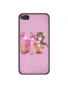 Coque Chaton Chat Kitten Chaussure Shoes pour iPhone 4 et 4S - Maryline Cazenave