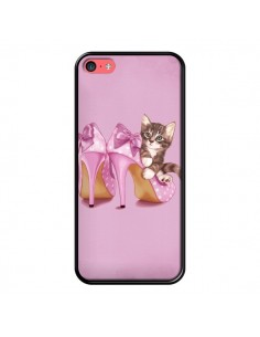 Coque Chaton Chat Kitten Chaussure Shoes pour iPhone 5C - Maryline Cazenave