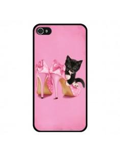 Coque Chaton Chat Noir Kitten Chaussure Shoes pour iPhone 4 et 4S - Maryline Cazenave